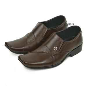 Harga sepatu pantofel pria formal kulit asli outsole karet fordza f662ck   cokelat | HARGALOKA.COM