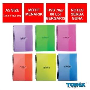 Harga notebook spiral a5 merk tomex motif noon color   tx810089 | HARGALOKA.COM