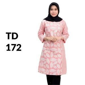 Harga dress baju tunik batik modern batik wanita kerja batik kantor td 172   | HARGALOKA.COM