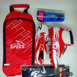 Harga paket komplit sepatu bola anak specs garuda attack boots   merah | HARGALOKA.COM
