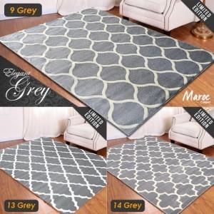 Harga carpet shop id karpet maroc super grey 160x210   06 | HARGALOKA.COM
