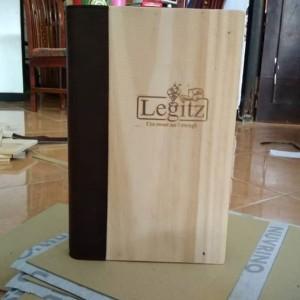 Harga buku menu bahan kayu logo di | HARGALOKA.COM