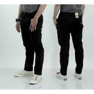 Harga jeans stret jins pensil 27 32 38 celana kantor celana santai hitam   hitam | HARGALOKA.COM