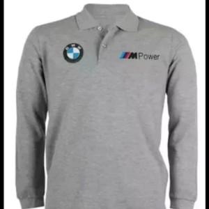 Harga kaos polo shirt lengan panjang pria tshirt kerah keren bmw m power   hitam | HARGALOKA.COM