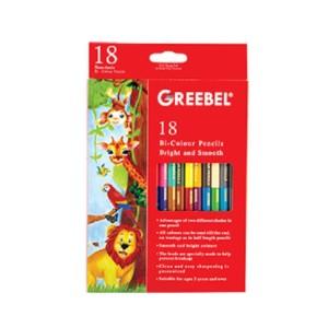 Harga atk233gb 7218 bi colour 18 pensil dapat 36 warna greebel grebel | HARGALOKA.COM