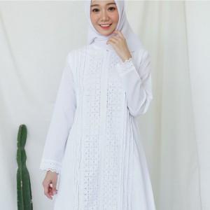 Harga gamis putih katun jepang baju haji gamis ihrom perlengkapan haji 9183   putih | HARGALOKA.COM