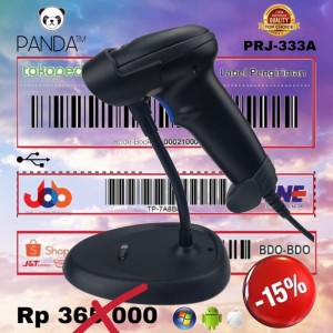 Harga barcode scanner laser panda prj 900a auto sensor with stand     HARGALOKA.COM