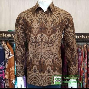 Harga kemeja batik pria batik qiekey baru limited edition qy798   sprti di foto | HARGALOKA.COM