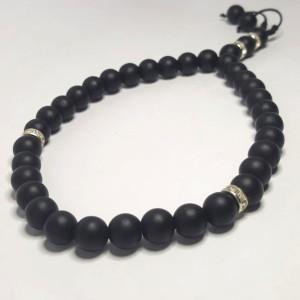 Harga tasbih batu black onyx doff 8mm | HARGALOKA.COM