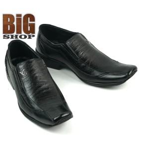 Harga sepatu pantofel pria formal kulit asli outsol karet model slip on b901   hitam | HARGALOKA.COM