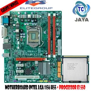 Harga paket mainboard mobo intel lga 1156 h55 ecs dengan processor i3 | HARGALOKA.COM