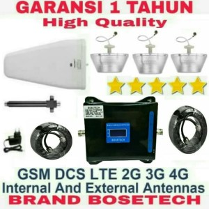 Harga penguat signal sinyal hp tri band 2g 3g 4g paket 3 way repeater | HARGALOKA.COM
