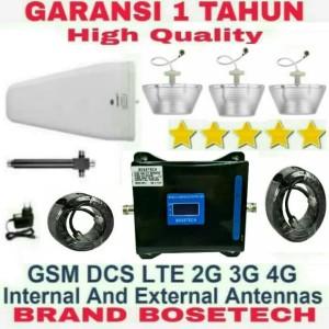 Harga penguat signal hp tri band 2g 3g 4g paket 3 way repeater sinyal | HARGALOKA.COM