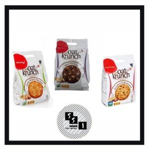 Harga oat krunch biskuit krakers chocolate hazelnut strawberry   | HARGALOKA.COM