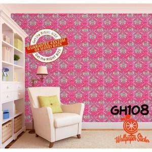 Harga gh108 wallpaper batik merah 10 m x 45 cm wallsticker | HARGALOKA.COM