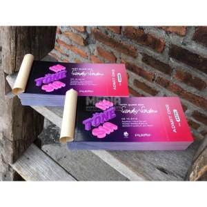 Harga cetak voucher amp tiket art paper 150 1 sisi 1 rim | HARGALOKA.COM