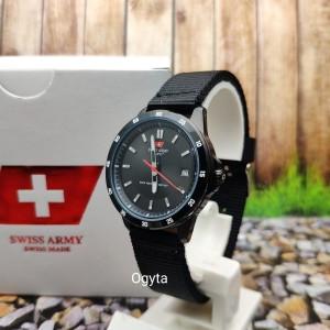 Harga swiss army jam tangan wanita kanvas hitam hc 1179l hitam | HARGALOKA.COM