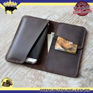 Harga new arrival dompet pria tempat hp kulit asli handmade dark | HARGALOKA.COM