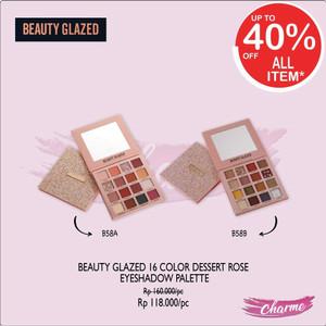 Harga ready amp ori beauty glazed 16 colors dessert rose eyeshadow pallette   varian | HARGALOKA.COM