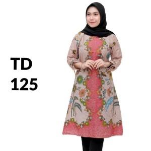 Harga tunik atasan batik solo batik kantor baju batik wanita td 125   | HARGALOKA.COM