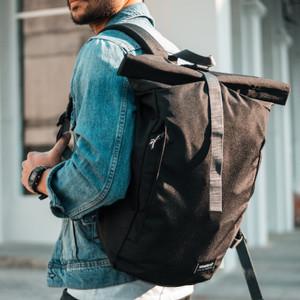 Harga lucerne black wanderlust rolltop backpack travelling tas | HARGALOKA.COM