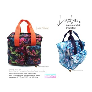 Harga tas bekal motif aluminum foil insulated the day bag | HARGALOKA.COM