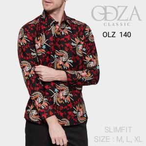 Harga kemeja batik pria baju lengan panjang baju batik modern   HARGALOKA.COM