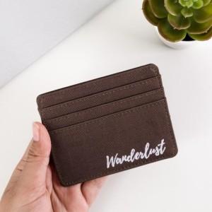 Harga malta brown wanderlust card holder card case wallet dompet | HARGALOKA.COM