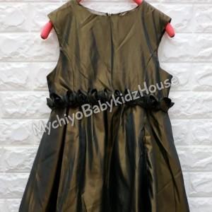 Harga baju anak perempuan dress annica simple pinggang bunga import premium   | HARGALOKA.COM