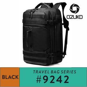 Harga ozuko backpack 9242 s l black   | HARGALOKA.COM