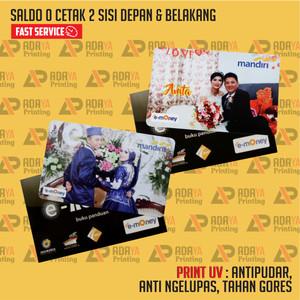 Harga emoney etoll mandiri custom cetak 2 sisi saldo 0 express | HARGALOKA.COM