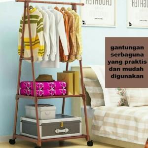 Harga rak baju segitiga gantungan baju stand hanger triangle jumbo | HARGALOKA.COM