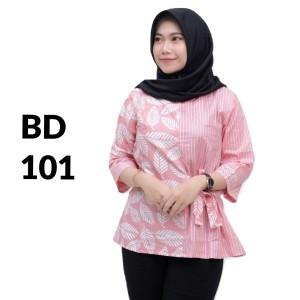 Harga atasan batik seragam batik solo batik kantor baju batik wanita bd 101   | HARGALOKA.COM
