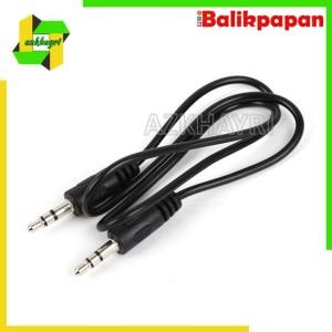 Harga kabel aux audio jack 1in1 untuk handphone komputer ke | HARGALOKA.COM