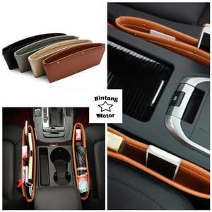 Harga holder box selip wadah hp kartu samping jok mobil seat leather | HARGALOKA.COM