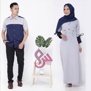 Harga baju couple gamis dan koko sfc08 1 by muslim shop   abu | HARGALOKA.COM
