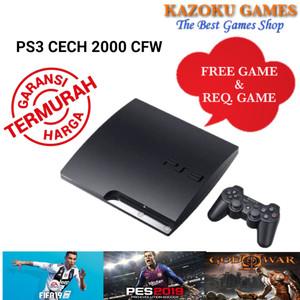 Harga ps3 ps 3 slim sony playstation cfw seri 2000 120gb   500gb 1 stick om   satu dua   HARGALOKA.COM
