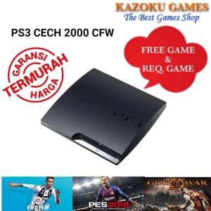 Harga ps3 ps 3 slim sony playstation cfw seri 2000 120gb  500gb no stick   satu dua | HARGALOKA.COM