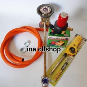Harga 1 paket kompor 203 regulator puter selang | HARGALOKA.COM