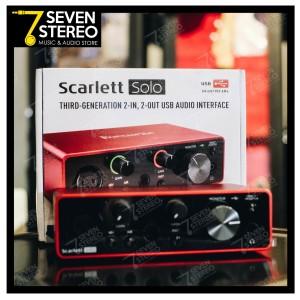 Harga focusrite scarlett solo 3rd gen audio interface   soundcard | HARGALOKA.COM