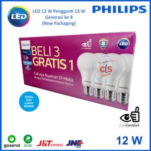 Harga lampu philips led 13 watt 13watt 13w 13 w 1 paket isi 4 pcs | HARGALOKA.COM
