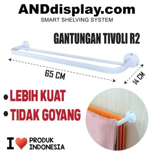 Katalog Gantungan Handuk Tivoli R2 Putih Rak Dinding Jemuran Kamar Mandi Katalog.or.id
