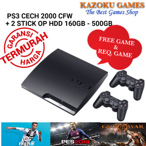 Harga ps3 ps 3 slim sony playstation seri cech 2000 120gb   500gb 2stik op   satu dua   HARGALOKA.COM