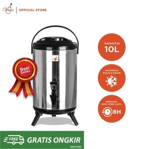 Harga violin termos dispenser air panas dingin stainless 10 liter | HARGALOKA.COM