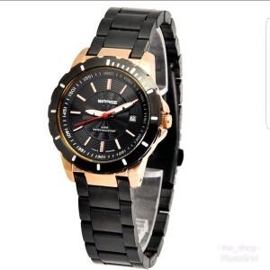 Harga jam tangan wanita mirage 8549 black rosegold   HARGALOKA.COM