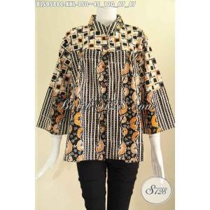 Harga blouse batik kekinian untuk wanita gemuk tampil gaya size xxl | HARGALOKA.COM