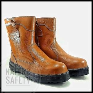 Harga Promo Sepatu Proyek Safety Boots Kickers Byson Kulit Asli Katalog.or.id