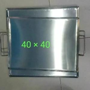 Harga wajan plat persegi uk 40x40 cm roti bakar sosis | HARGALOKA.COM