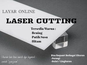 Harga akrilik laser cutting 5mm 50x70cm acrylic bening   putih susu   | HARGALOKA.COM