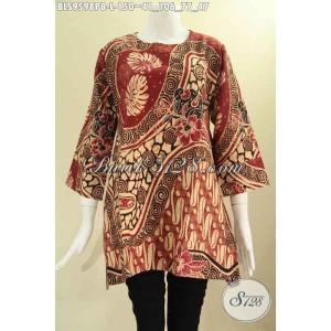 Harga atasan batik seragam kerja wanita model a motif mewah size l | HARGALOKA.COM